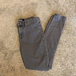 Express grey legging jean mid rise